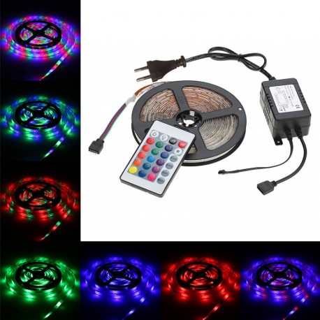 Led Strip 5m com comando e transformador