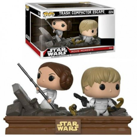 Funko POP! Star Wars  Movie Moments - Luke & Leia Trash Compactor Escape