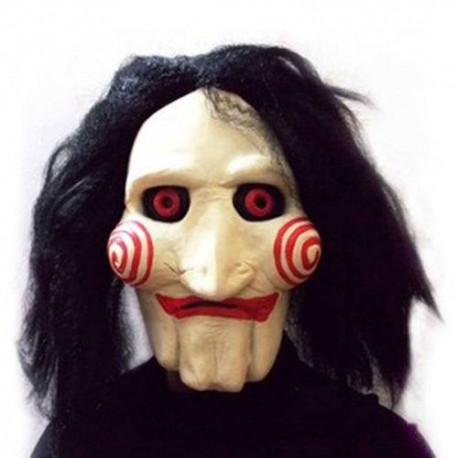 Máscara Saw Puppet with hair